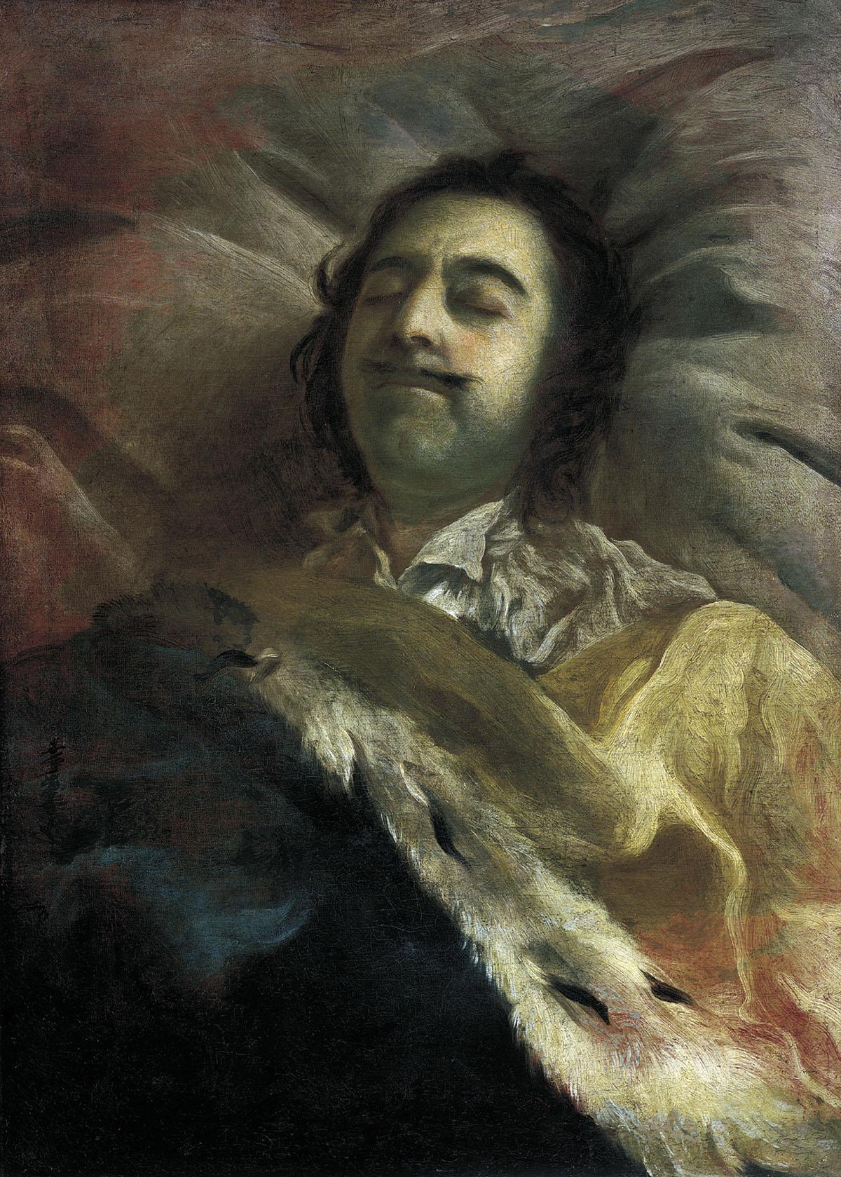 پتر کبیر در بستر مرگ